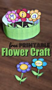 printable flower craft preschool