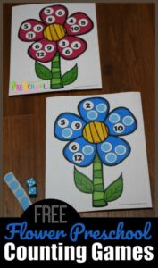 spring flower counting game