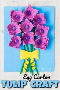 tulip flower craft for kids