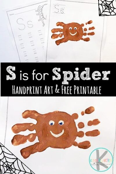 Is your child learning their letters from A to Z? A fun way to learn your ABCs is by making super cute handprint art. As we dove into the letter s we decided to do an s is for spider week. Take a peak at this adorable spider handart project and free letter s worksheet to make learning fun for toddler, preschool, pre k, kindergarten, and first grade kids. You can grab the pdf file with the template here!