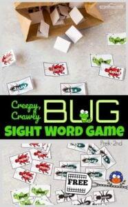bug sight word game