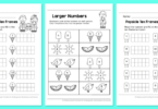 Free Summer Kindergarten Counting Worksheets