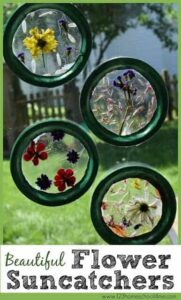 beautiful flower suncatcher craft
