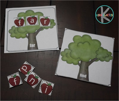 Kindergarten Sight Words Game perfect for fall