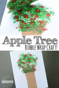 apple tree bubble wrap art projects