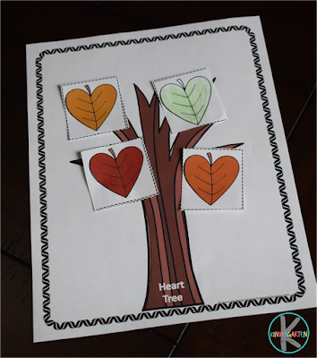 fall leaf activity with shapes for kindergarten