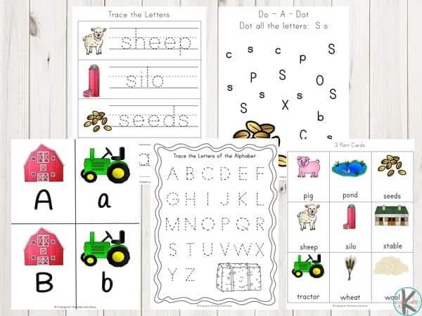 FREE Farm Worksheets For Kindergarten