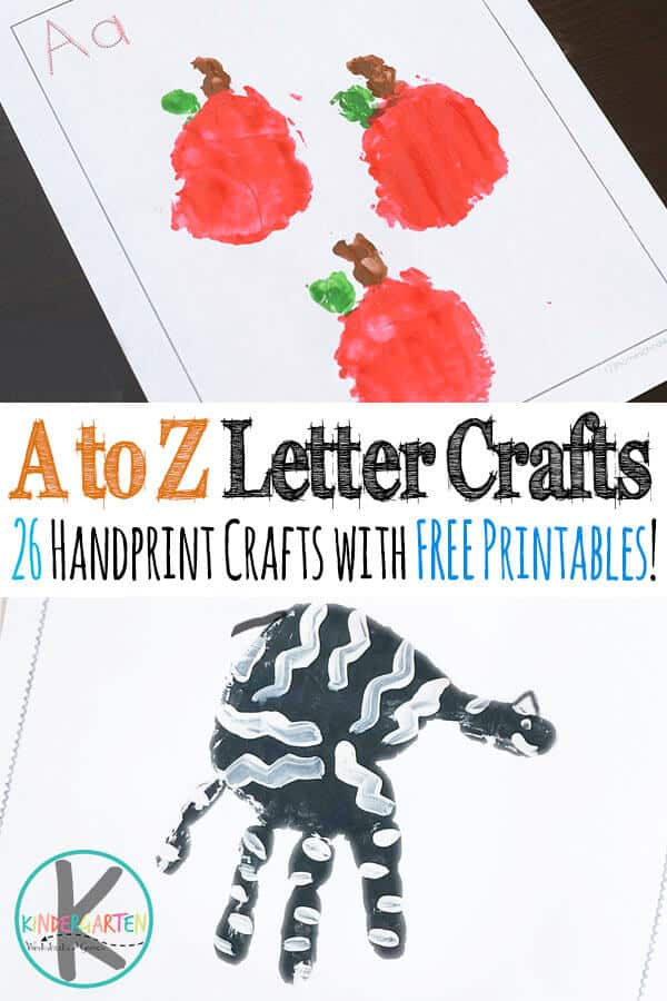 A to Z Alphabet Handprint Crafts