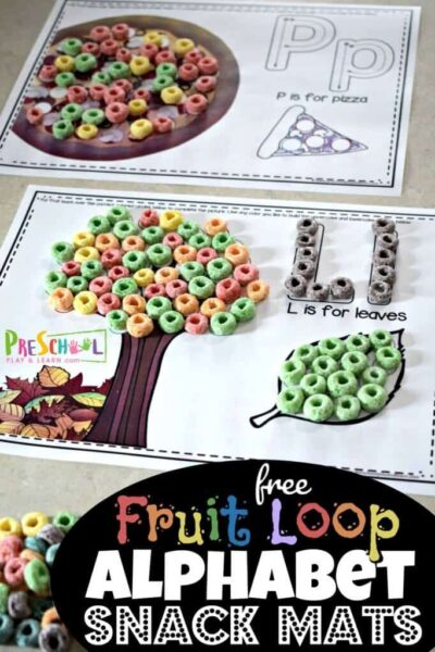 FREE Fruit Loop Alphabet Printable