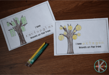 FREE Fall Shapes Emergent Reader