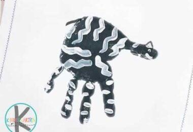 Z is for Zebra Handprint Crafts