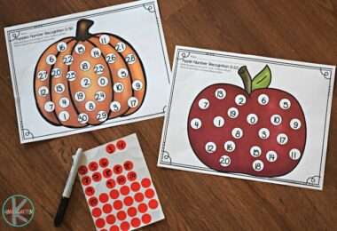 Fall Numbers Sticker Worksheets