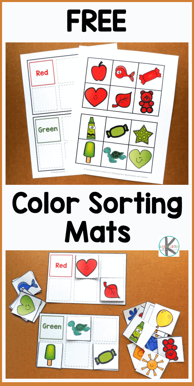 Free color sorting mats kids will have fun practicing identifying major colors with these free