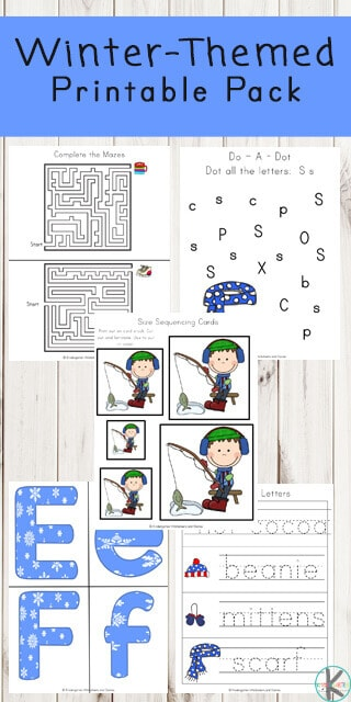 FREE Winter Printable Pack - these free winter worksheets for toddle, preschool, kindergarten and first grade are a fun way for kids to practice math, literacy, alphabet, and key vocabulary with a fun theme. #wintertheme #worksheetsforkids #preschool #kindergarten #firstgrade #kindergartenworksheets #preschoolworksheets #free