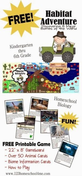 FREE Animal Habitats Game for elementary age kids