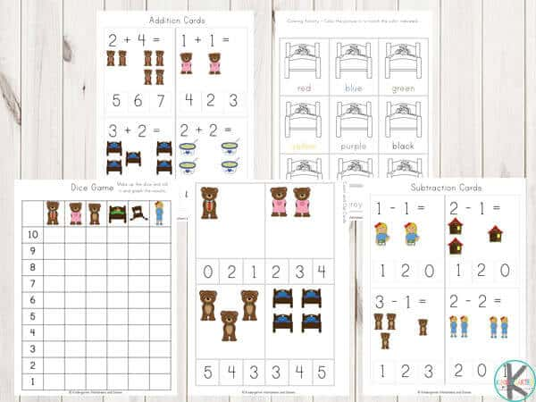 classic-story-preschool-kindergarten-worksheets