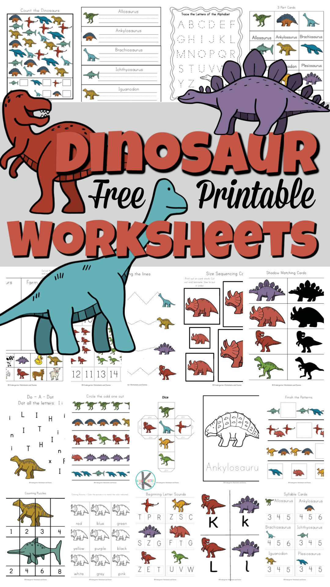 Free Printables Dinosaur Worksheets