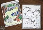 Animal Habitats Circle Sticker Worksheets