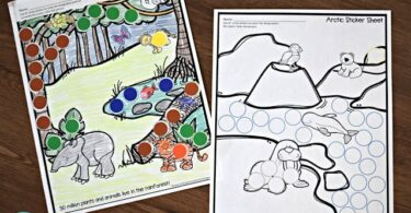 Animal Habitats Circle Sticker Worksheets