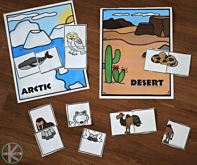 FREE Silly Puzzles Animal Habitats Activity