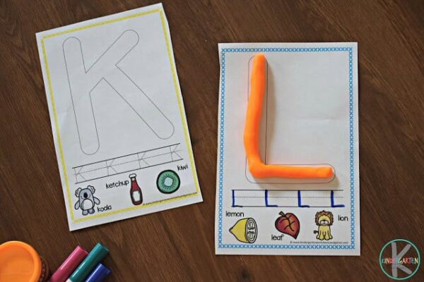 FREE Alphabet Playdough Cards