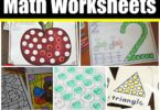 FREE Kindergarten math Worksheets - lots of free printable kindergarten math worksheets to help kindergartners practice numbers, counting, addition, subtraction, and more #kindergarten #kindergartenmath #mathworksheets