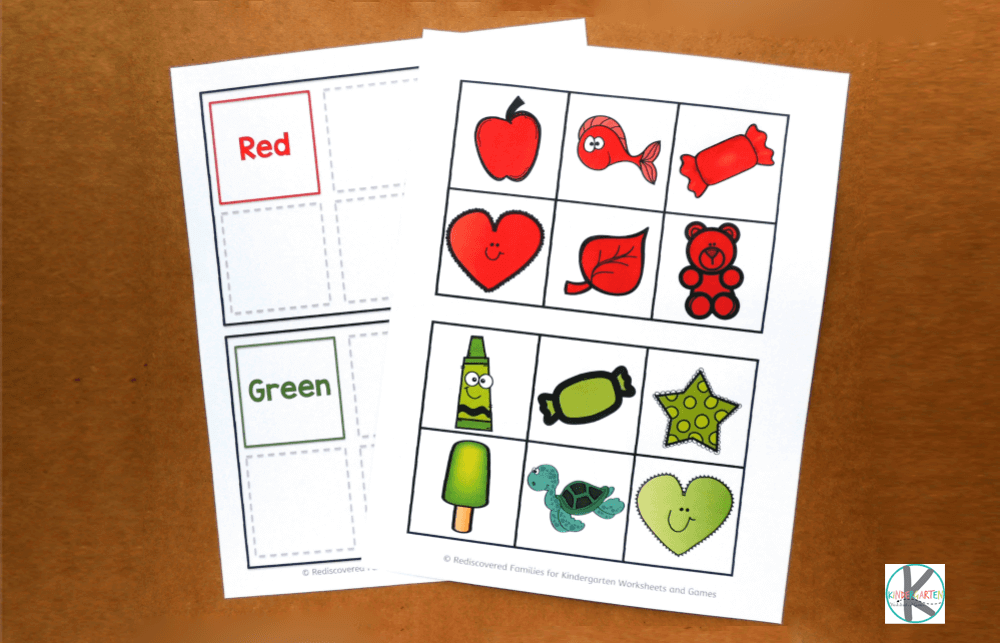 Learn Kindergarten Colors With Color Sorting Mats