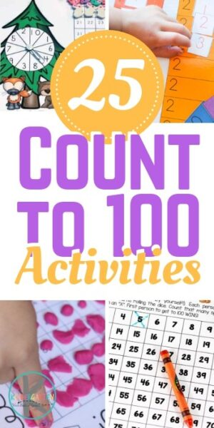 25 Count to 100 Ideas - kids will have fun practicing counting to 100 with these fun, engaging, hands-on, and FREE math games. #preschool #kindergraten #preschoolmath #kindergartenmath #countto100 #counting #mathgames #mathactiviites