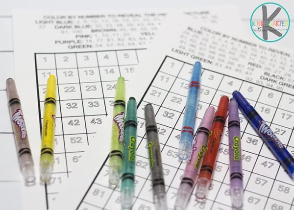 Crayons And 100 Charts