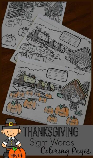 Free-Thanksgiving-Sight-Words-Coloring-Pages
