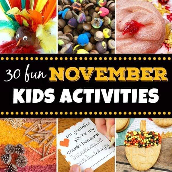 november activities for kids