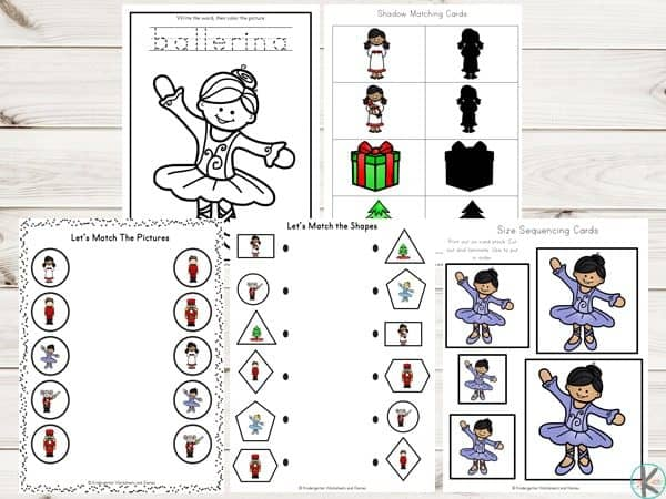 picture relating to Nutcracker Worksheets Printable named Totally free Nutcracker Printable Pack Kindergarten Worksheets and
