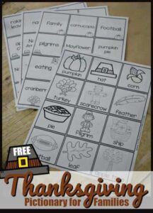thanksgiving pictionary