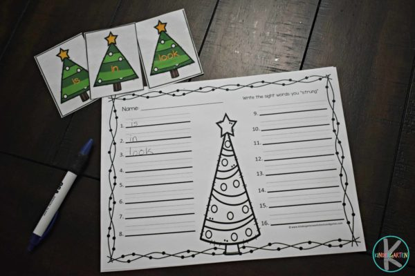 Christmas-sight-word-worksheet