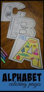 Super cute alphabet coloring pages for kinderartners