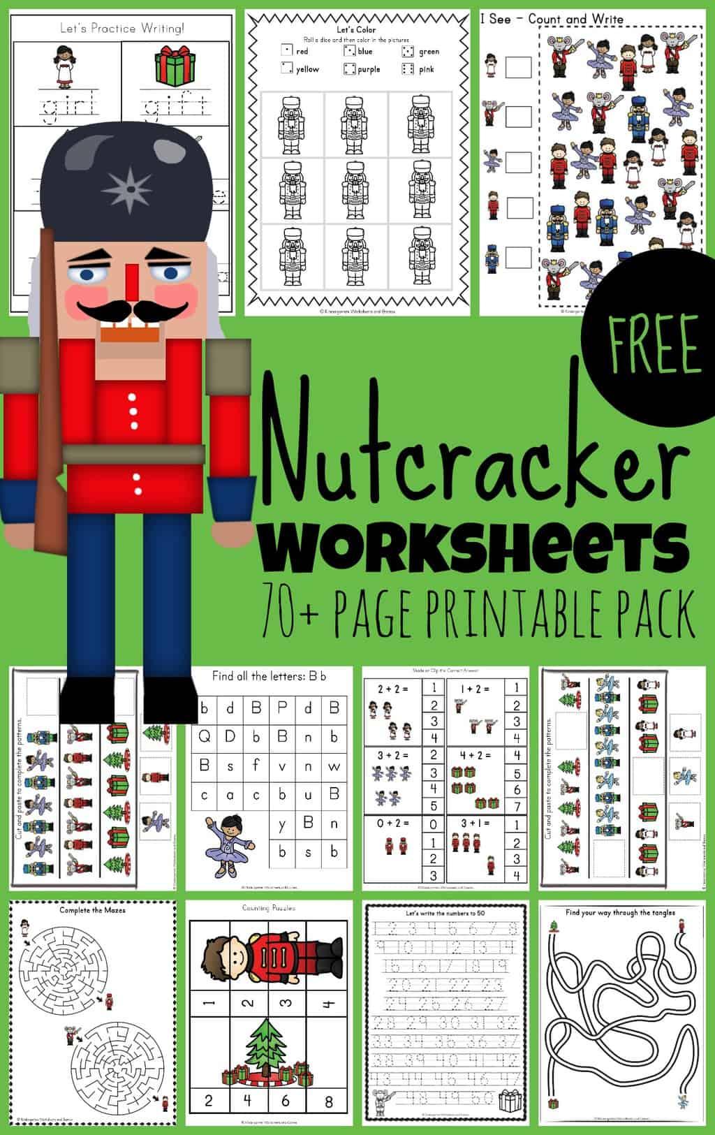 Free Nutcracker Worksheets Printables Pack