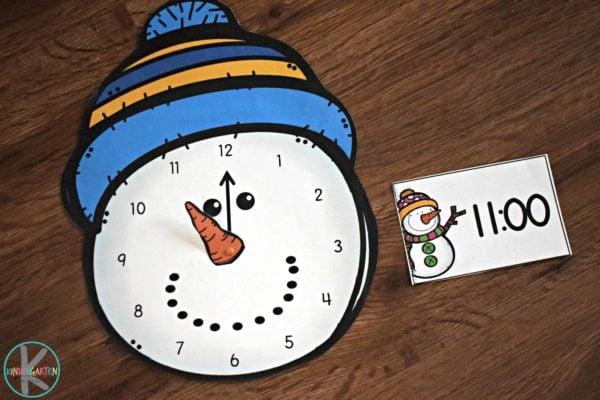 snowman-clock-practice