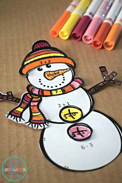 snowman-math-craft-kindergarten-first-grade