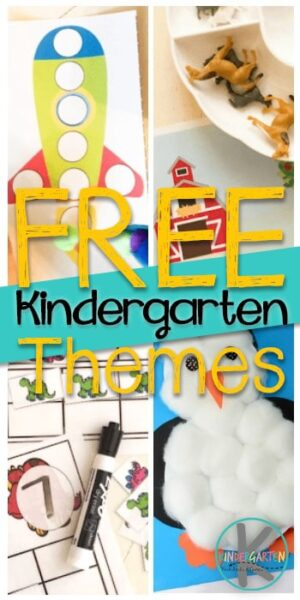 Free Kindergarten Themes - kids love learning when they are having fun! These kindergarten classroom themes make it easy for teachers and homeschoolers to teach with themes with this collection of FREE kindergarten and preschool themes. #themes #preschoolthemes #kindergartenthemes #unitlessons #learningisfun #preschool #kindergarten
