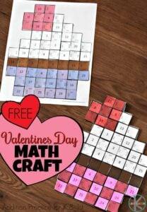 Valentines Day Math Craft