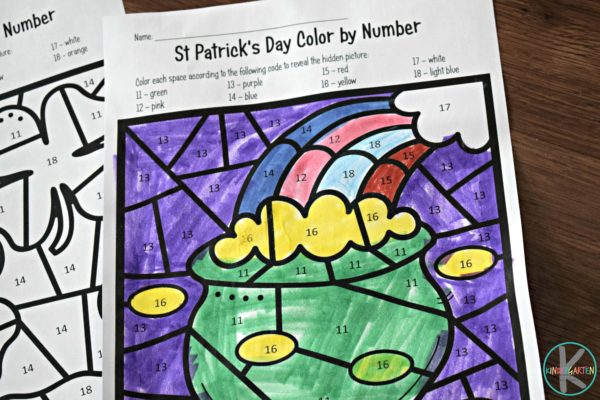 saint-patricks-day-color-by-number-printable