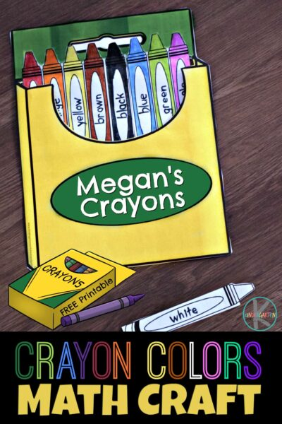 photo relating to Crayon Printable identified as Crayon Shades Math Craft Kindergarten Worksheets and Video games