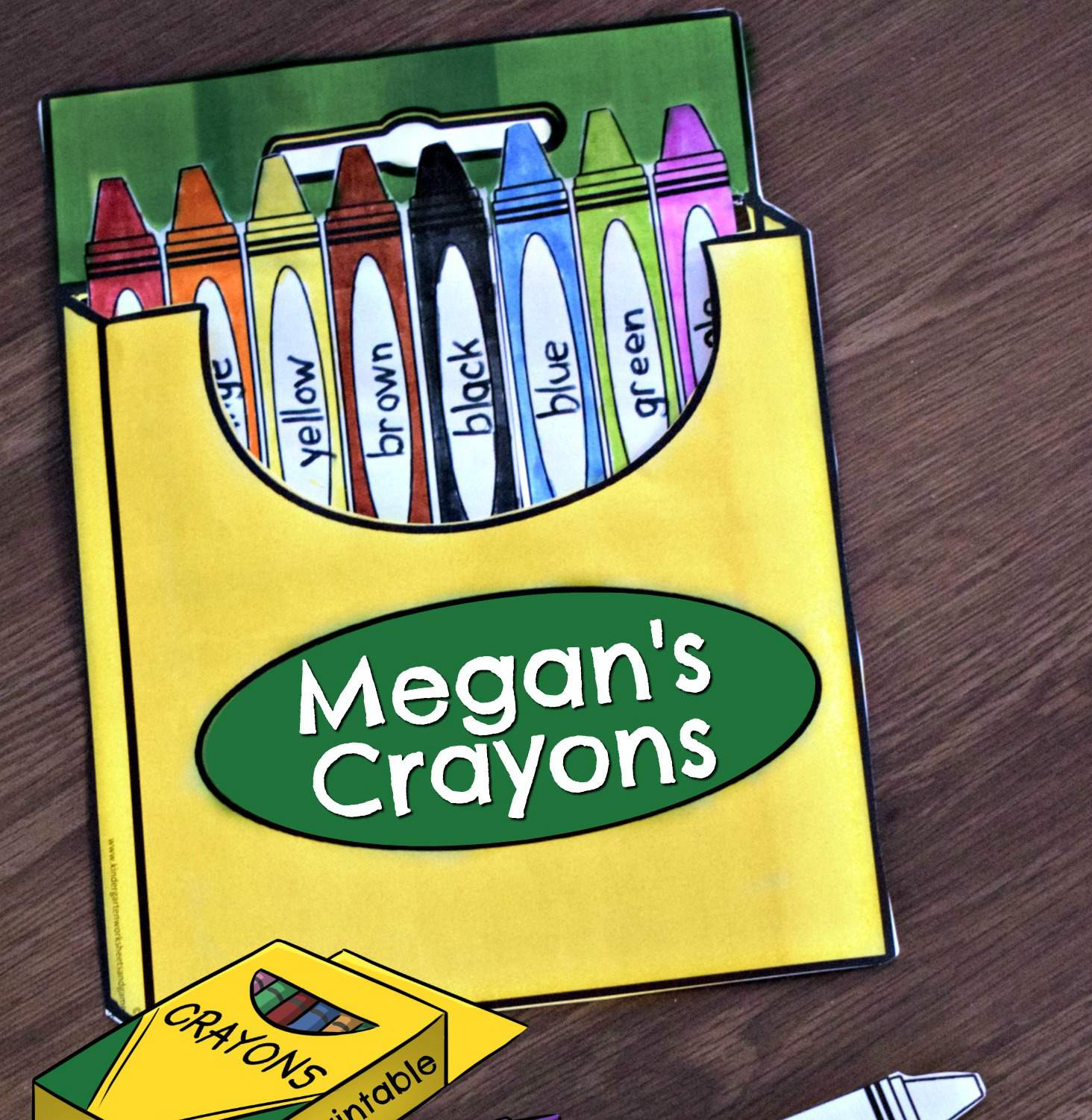 Crayon Colors Printable Crafts For Kids