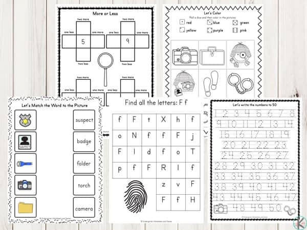 detective-kindergarten-worksheets