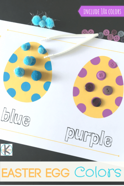 FREE Easter Egg Colors Activity - this is such a fun hands on activity to help kids practice color matching and color recognition while strengthening pincer grasp and fine motor skills. #colorrecognition #preschool #easter