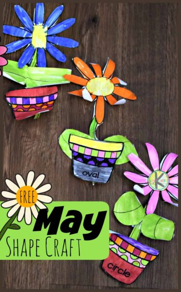 Free Flower Shape Math Craft Kindergarten Worksheets And Games