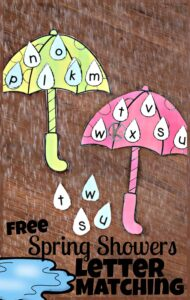 free-spring-showers-letter-matching