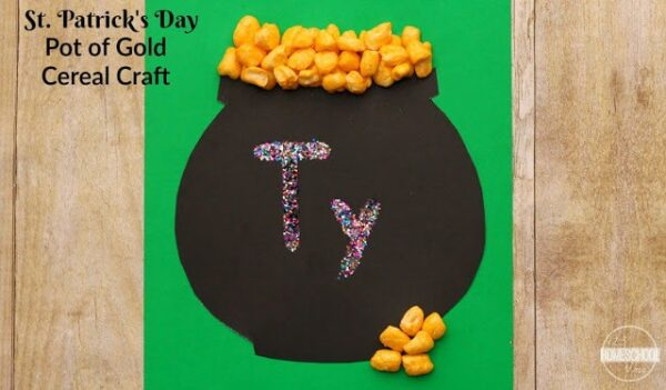 st-patricks-day-pot-of-gold-name-craft