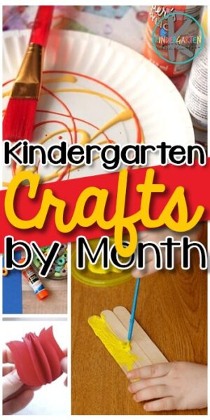 Kindergarten Crafts by Month - tons of super cute, fun-to-make crafts for kindergartners for all year #kindergarten #craftsforkids #kindergartencrafts