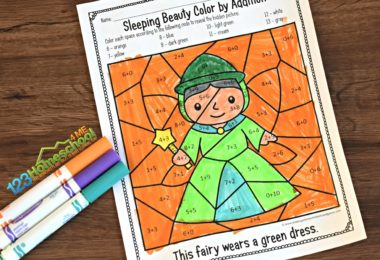 Sleeping-Beauty-Math-Coloring-Worksheets